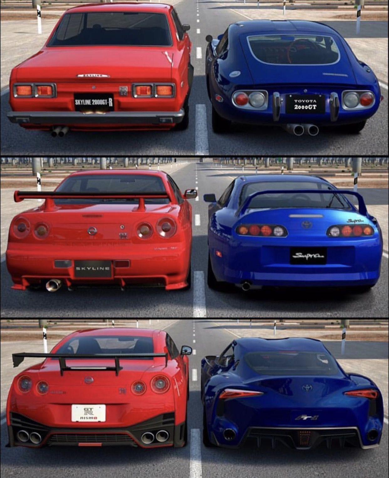 Supra Vs Skyline Gtr Super Cars Nissan Gtr Tuner Cars
