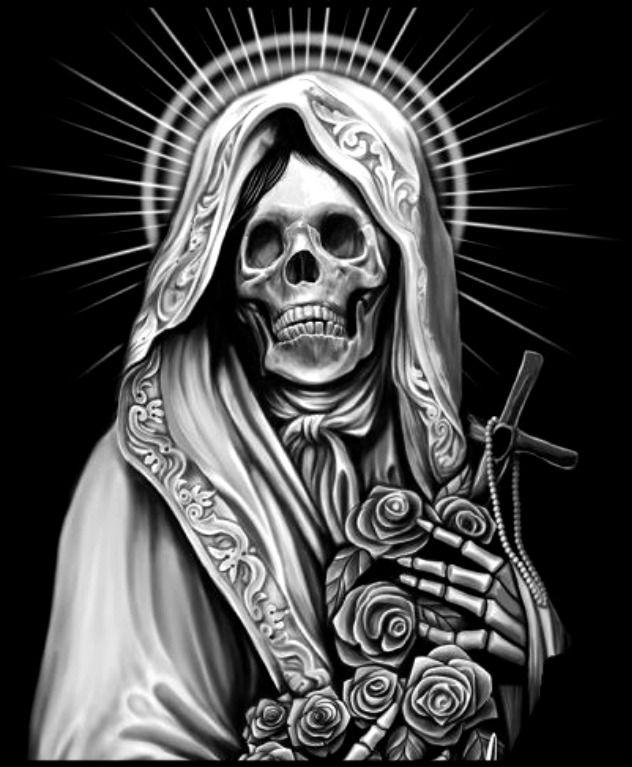 Santa Muerta Tatuajes De Santa Muerte Santa Muerte Imagenes De