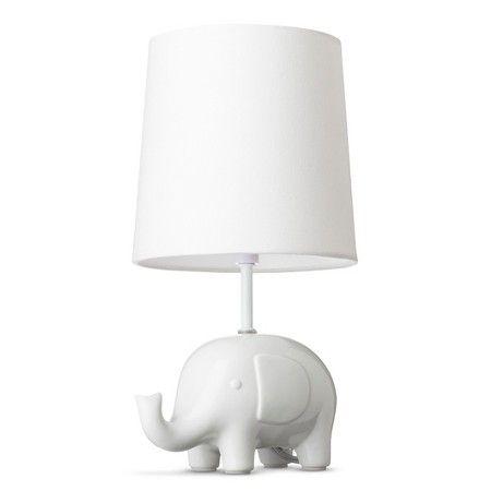 Circo ceramic table lamp shade elephant with bulb target