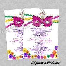 Mardi Gras Quinceanera Invitations, Sweet 15 Invites in Purple and Green