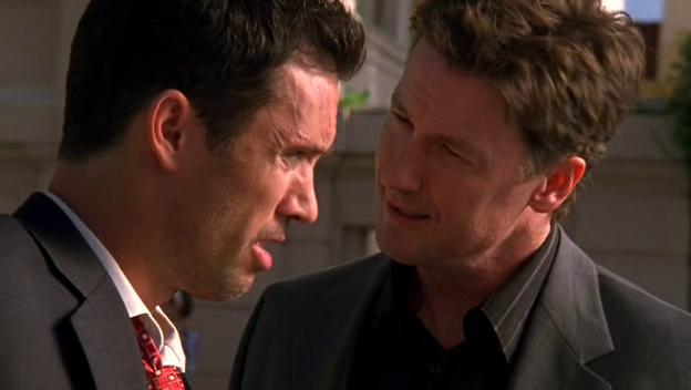 """Burn Notice 2x09 """"Good Soldier"""" - Michael Westen (Jeffrey Donovan) & Lesher (John Allen Nelson)"""