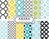love this quatrefoil fabric selection great colors