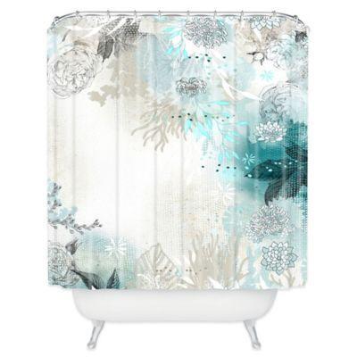 Iveta Abolina Seafoam Shower Curtain In White