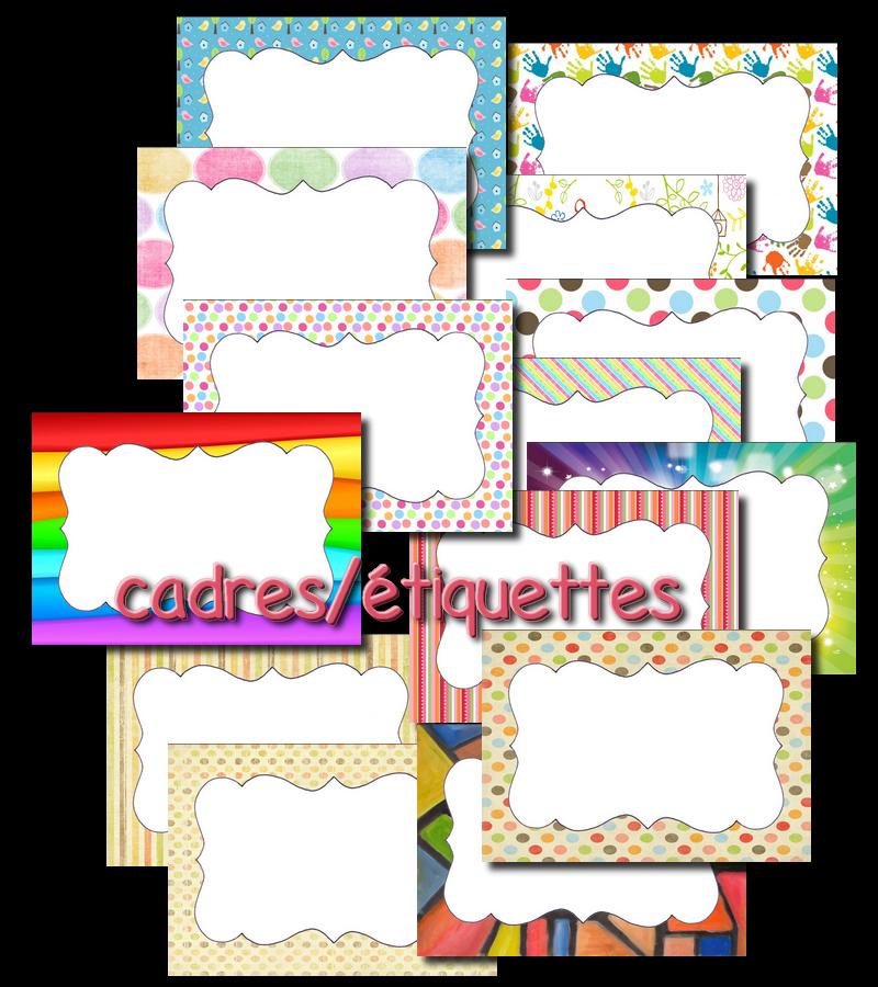 Bien connu La maternelle de Laurène: cadres / étiquettes à personnaliser  LX14