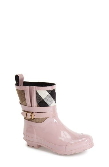 Burberry 'Holloway' Rain Boot (Toddler
