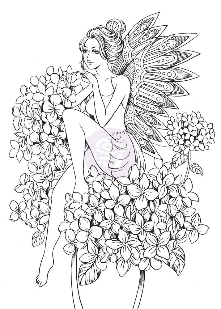 Prima Princesses Stamp - Angelica | Color Me Happy | Pinterest ...