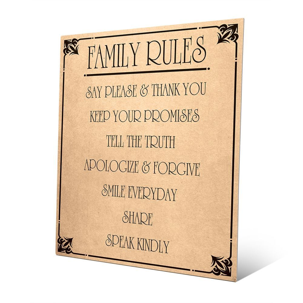 Great Family Rules Wall Decor Photos - The Wall Art Decorations ...