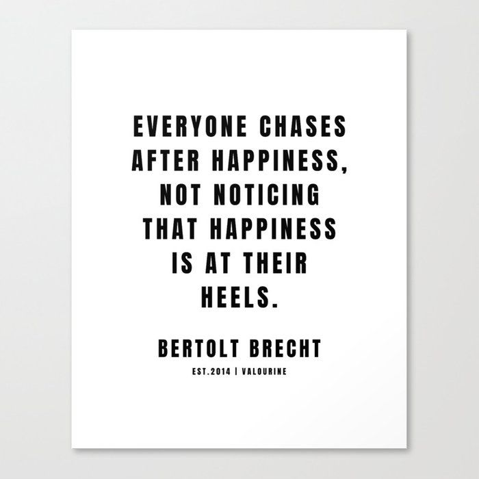 12 | Bertolt Brecht Quotes| 201223| Famous Quote Writer Literature German Poet Poem Philosophy| Author Of Life Of Galileo Canvas Print by Quotes And Sayings