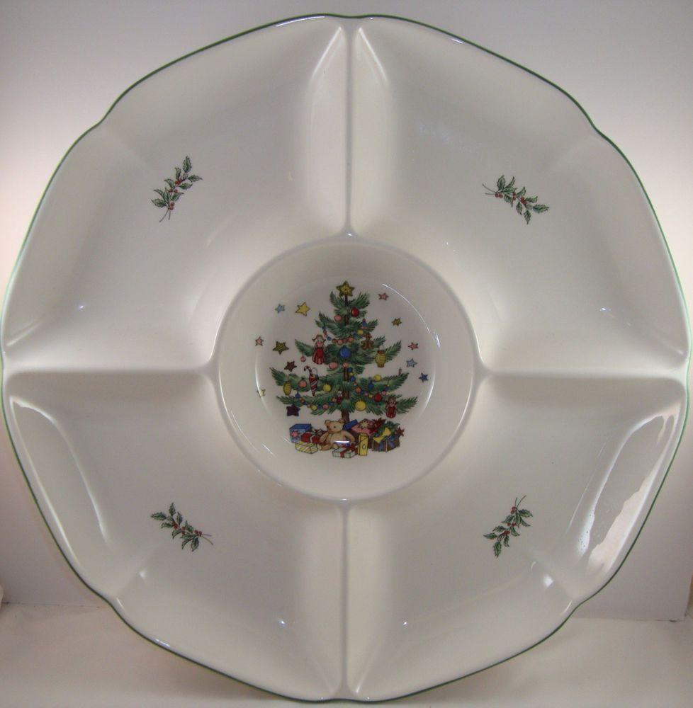 Nikko Christmastime Divided Vegetable Tray 13\