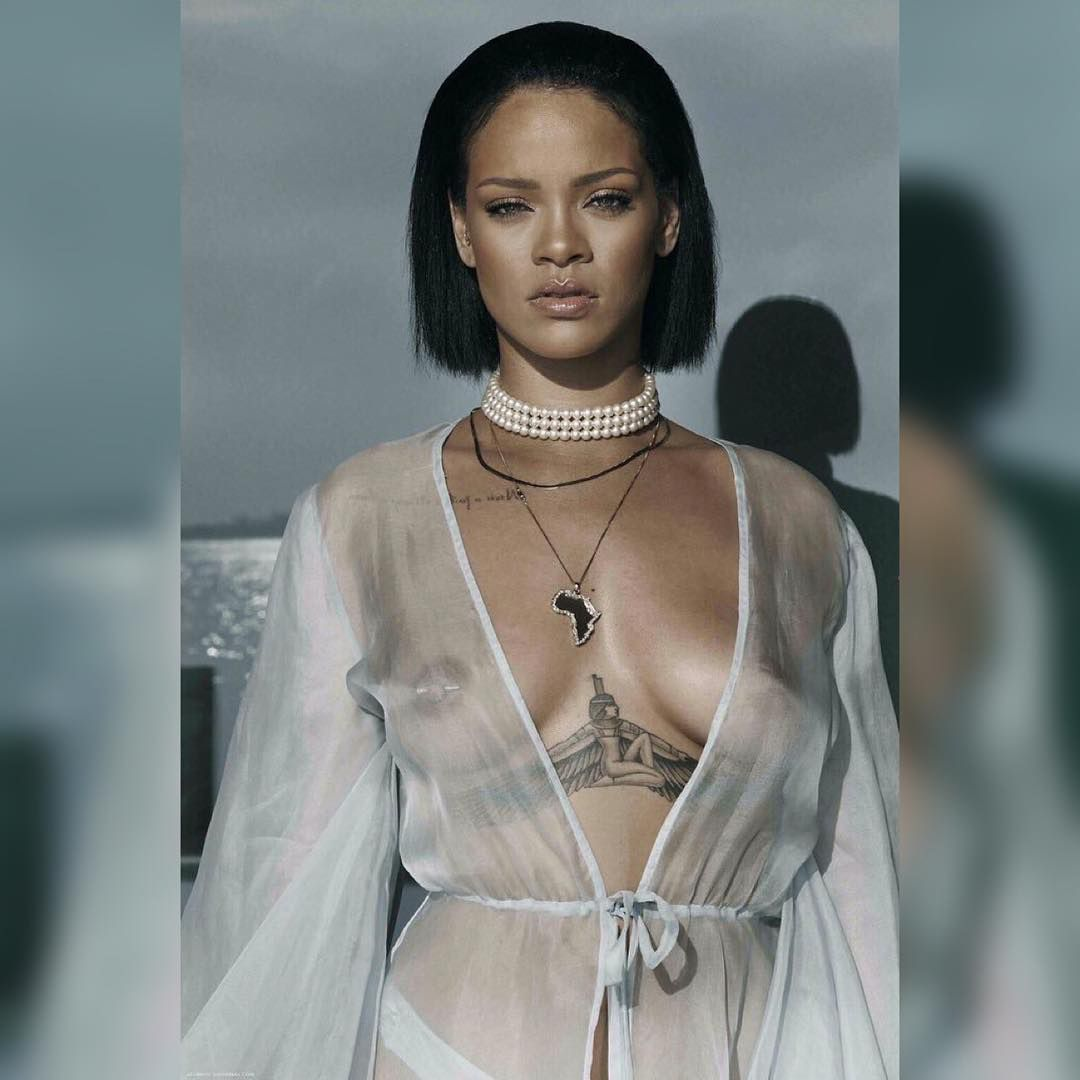 pics Rihanna's Boobs In Needed Me Music Video