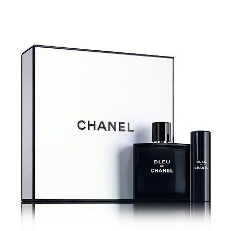 f44b060b9474d CHANEL BLEU DE CHANEL Eau de Toilette Travel Spray Gift Set   New at ...