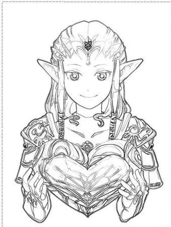 Zelda Ausmalbilder Ausmalen Coloring Coloringpagesforkids Kinder Erwachsenen Malvorlagen Painting Zelda Disney Ausmalbilder Coole Malvorlagen Ausmalen