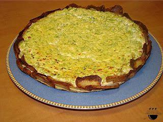Pastis de bròquil amb base de patata / Pastel con base de patata.