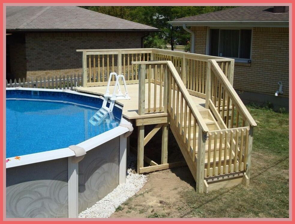 how to build a simple above ground pool deck