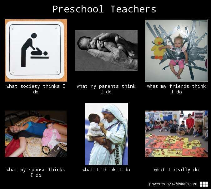 What preschool teachers do | Teacher humor