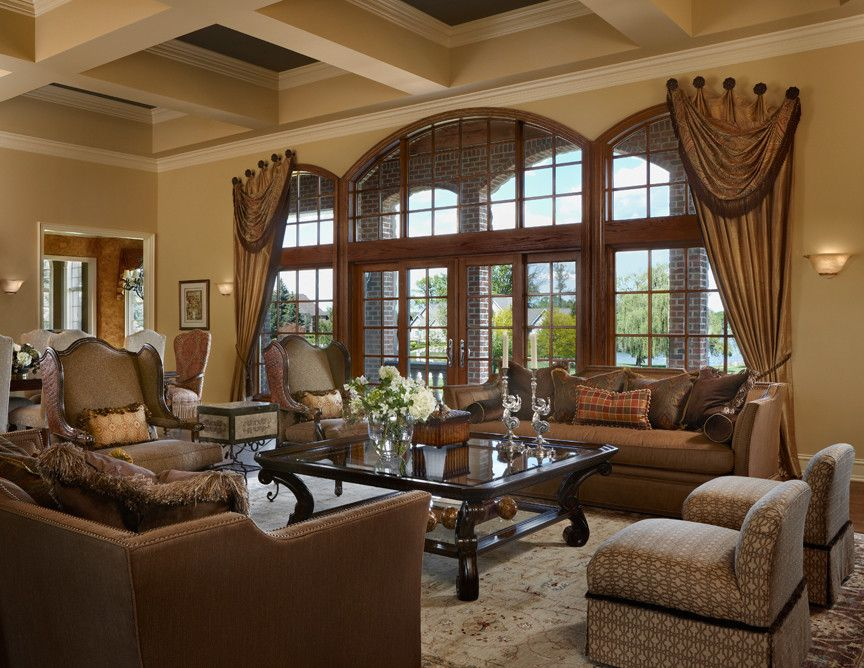 Tuscan Great Rooms | Tuscan Interior Design Living Room Traditional