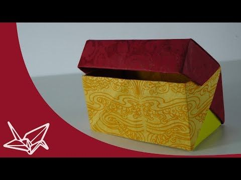 Photo of Origami Schachtel mit Deckel – Faltanleitung