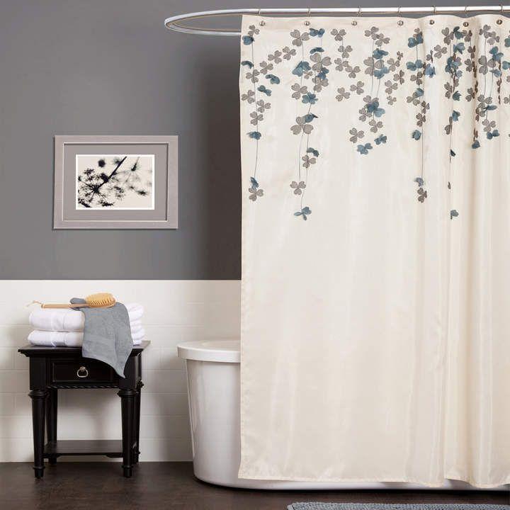 Delicieux Lush Decor Flower Drop Fabric Shower Curtain