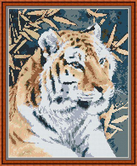 Вышивка бенгальский тигр схема бесплатно