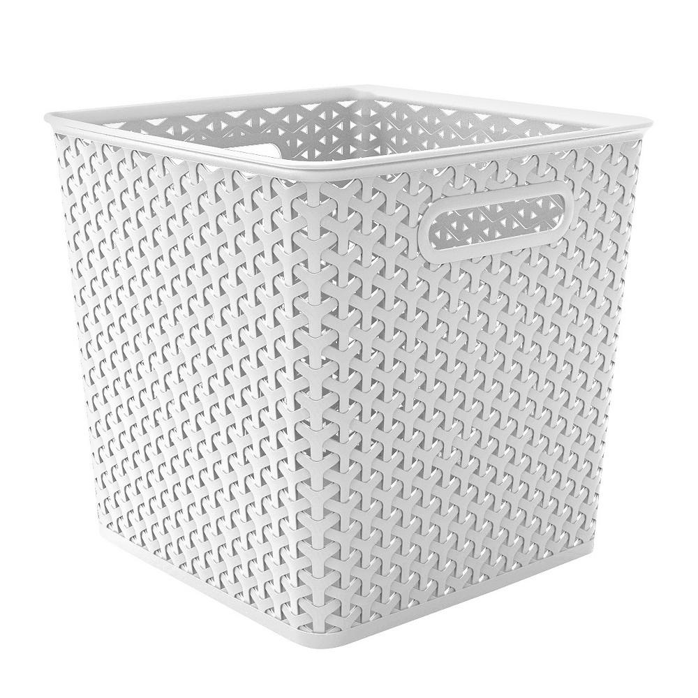 11 Y Weave Basket Bin White Room Essentials In 2020 Woven Baskets Storage Cube Storage Storage Bins