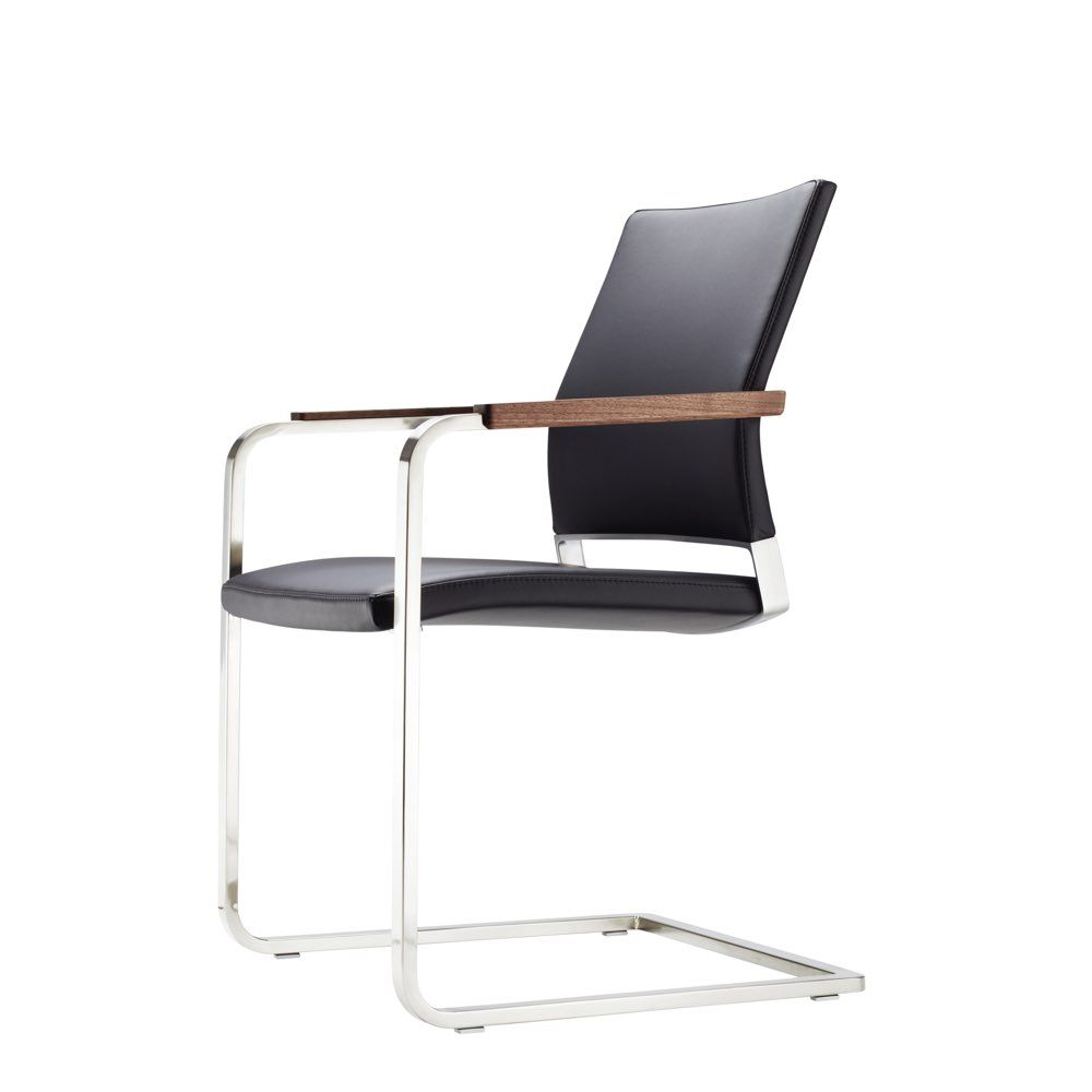 Black Office Designer Chair Black Office Designer Chair Thonet Stühle Stuhl Design Freischwinger