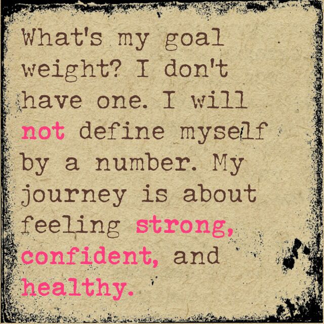 Whatu0027s My Goal Weight ? I Will Not Define Myself By A Number . My Journey  Is About Feeling Strong , Confident , And Healthy .