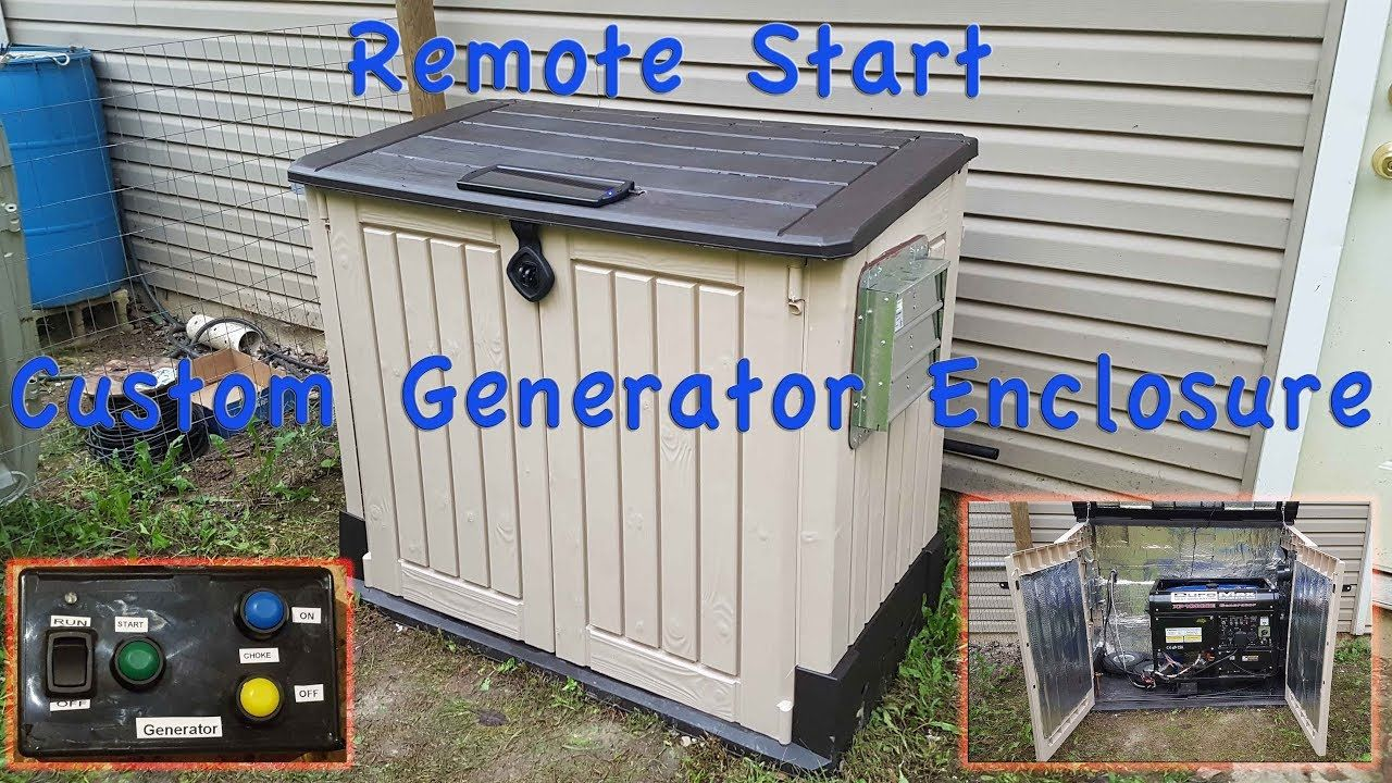 Diy generator enclosure shed with remote start youtube