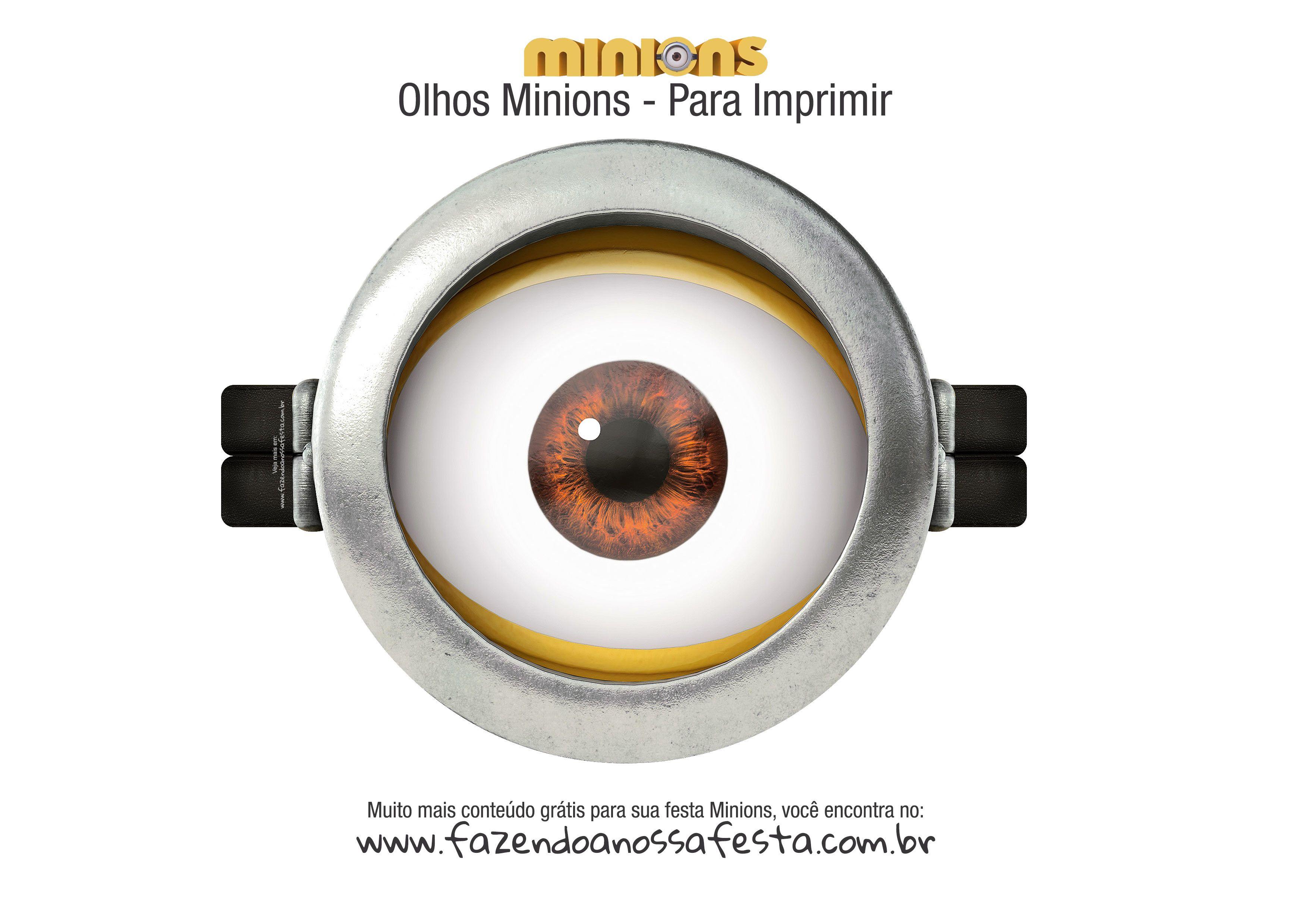 Http Fazendoanossafesta Com Br 2015 10 Olhos Minions Gratis Para