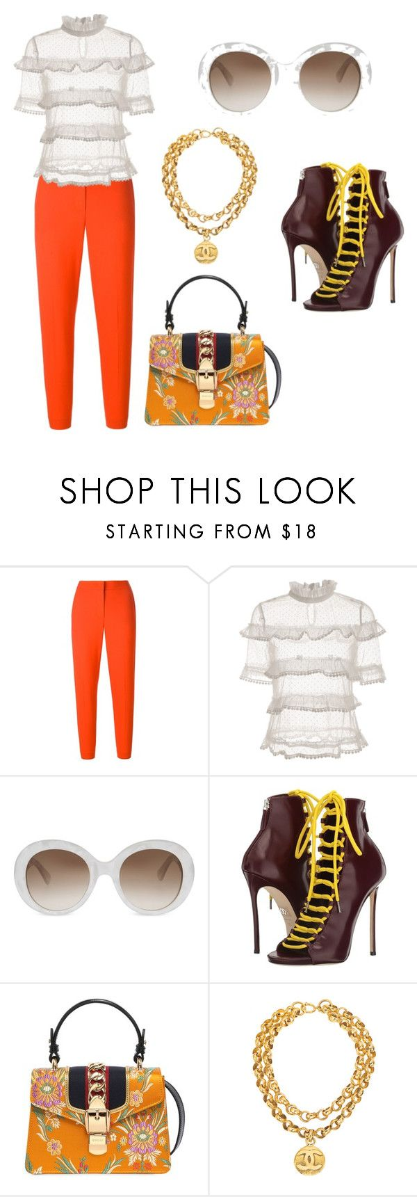 """coachella woodstock in my mind"" by bahrainimermaid ❤ liked on Polyvore featuring MSGM, Gucci, Dsquared2 and Chanel"