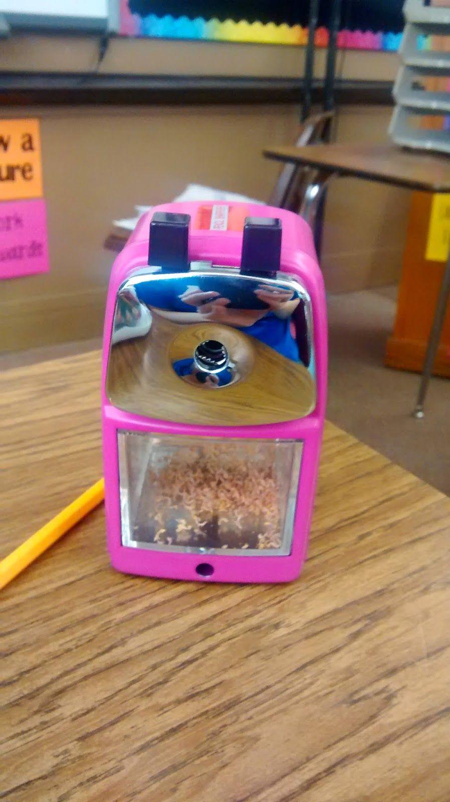 Classroom friendly supplies pencil sharpener in pink math