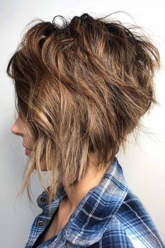 20 Ideas Of Short Shag Haircuts To Sport This Season Shortshag Messy Side Parted Pixie Bob Shortshaghaircuts Shortha Haarschnitt Kurz Haarschnitt Bob Frisur