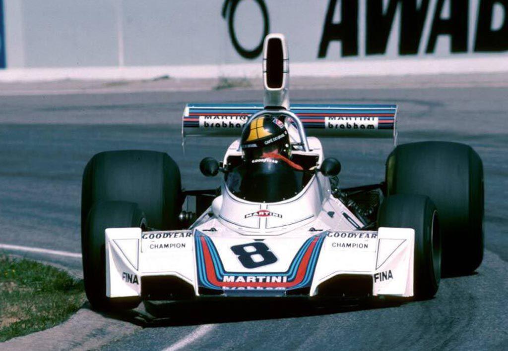 José Carlos Pace en 1975 sur Brabham