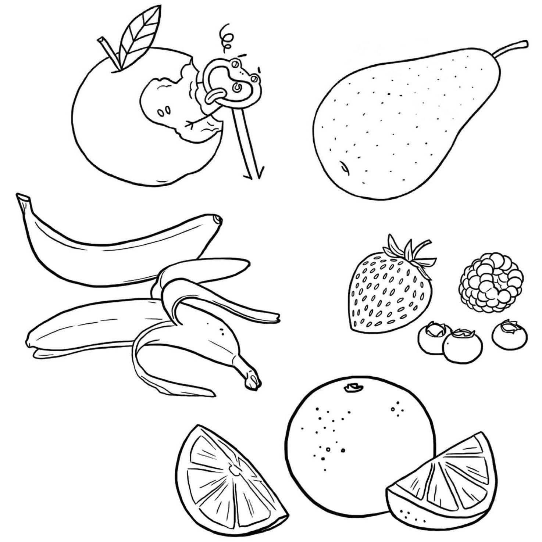 Coloriage Les Fruits.Fruits Dessin A Colorier Coloriage Printable Pdf Jeu A