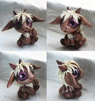 Silly Maned Bitty Baby Dragon by BittyBiteyOnes