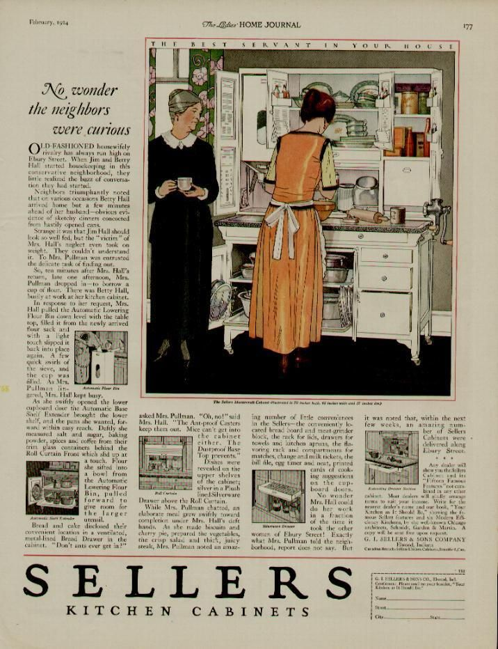 1924 Sellers Kitchen Cabinets Ad The Best Servant In Your House Rustic Cabinets Kitchen Cabinets Primitive Kitchen