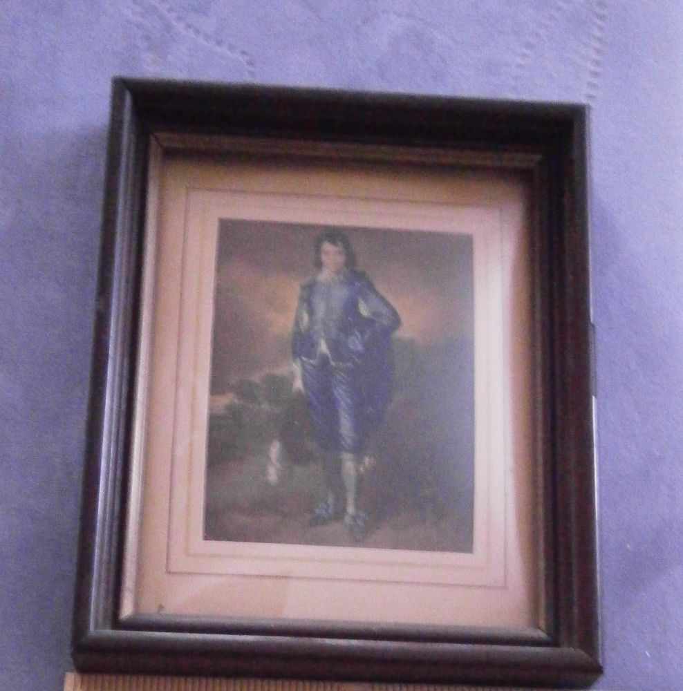 Vintage old masters boy in blue radio picture frame co bubble vintage old masters boy in blue radio picture frame co bubble glass k33805 jeuxipadfo Image collections