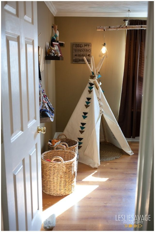 Amazing Tribal Themed Nursery By Leslie Savage Photography