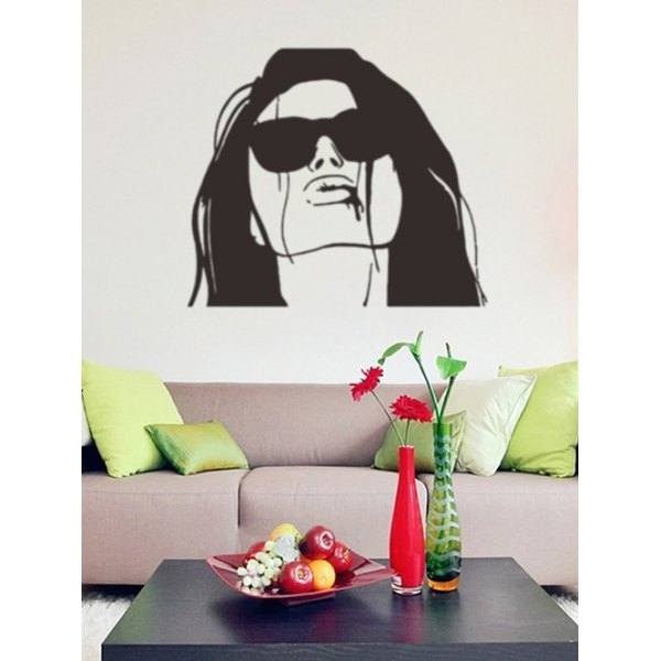 6.07$  Buy here - http://dir8l.justgood.pw/go.php?t=206316601 - Artistic Lady Figure Wall Stickers Home Decoration 6.07$