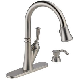 Delta Savile Stainless 1 Handle Pull Down Sink Counter
