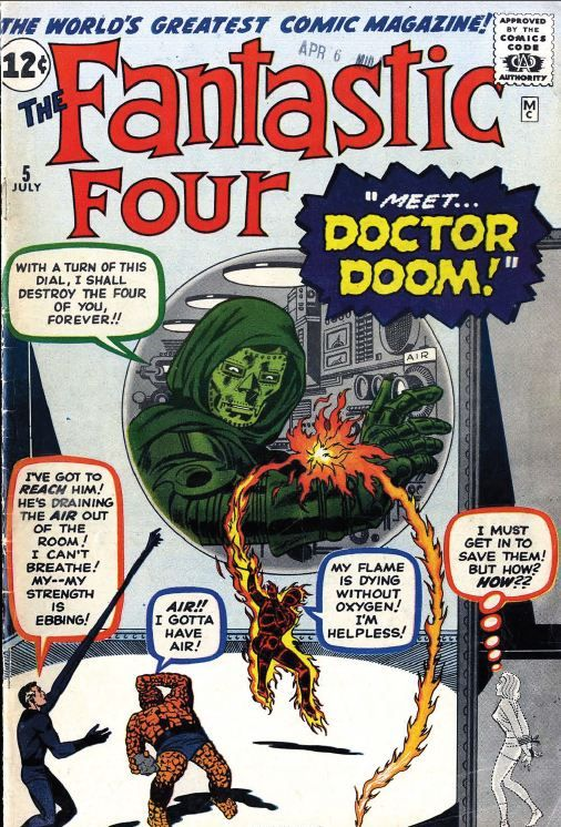 First Doctor Doom. Fantastic Four #5