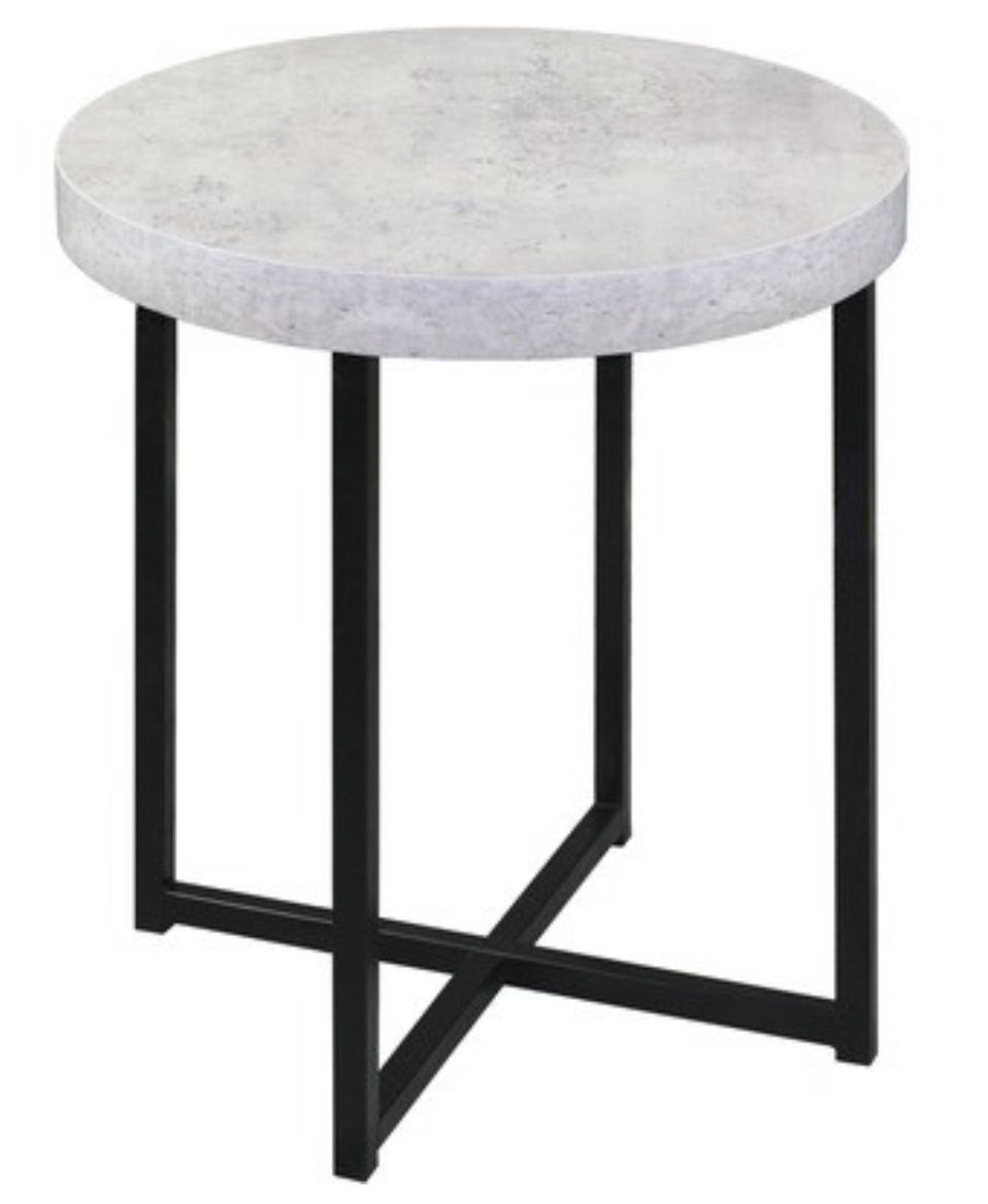 Harper Faux Concrete Side Table In 2020 Side Table Table Furniture Side Tables