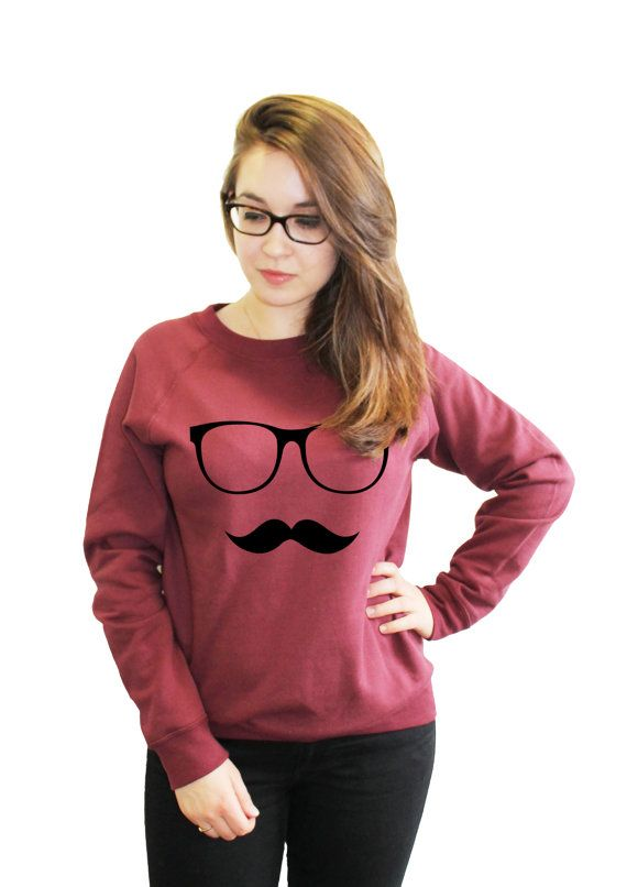 Glasses Moustache Funny Fashion Sweatshirt by 21CenturyClothing, £20.00