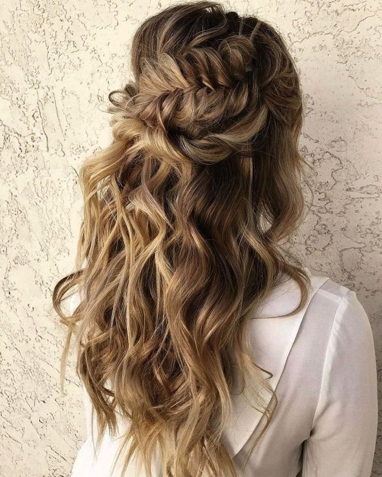 30 Stunning Half Up Half Down Hairstyle Ideas For You To Try Revelationluv Cool Braid Hairstyles Wedding Hair Up Hair Styles