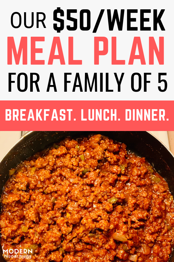 Our $50/Week Meal Plan For A Family of 5 images