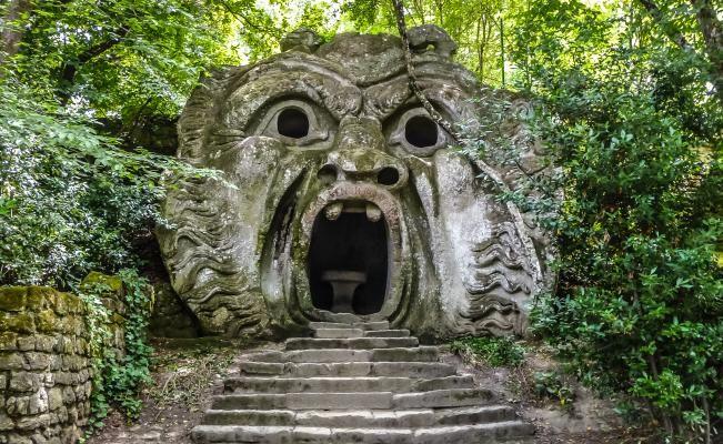 Parque de los Monstruos o Bosque Sagrado en Bomarzo, Italia. (Foto: iStock)
