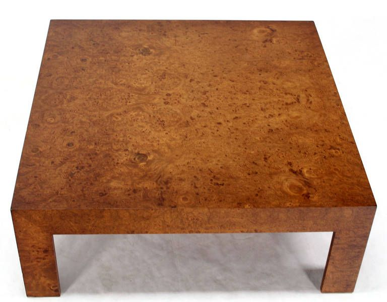Mid Century Modern Large Square Burl Walnut Coffee Table By Baughman Walnut Coffee Table Coffee Table Baughman