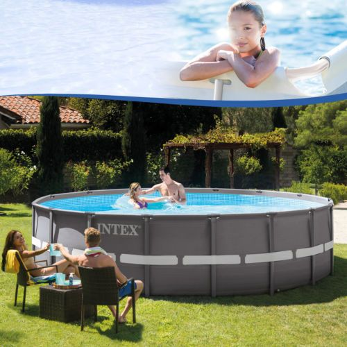 Intex 488x122 Schwimmbecken Swimming Pool Schwimmbad Stahlwand Metallrahmen  Neu 6941057401362 | EBay
