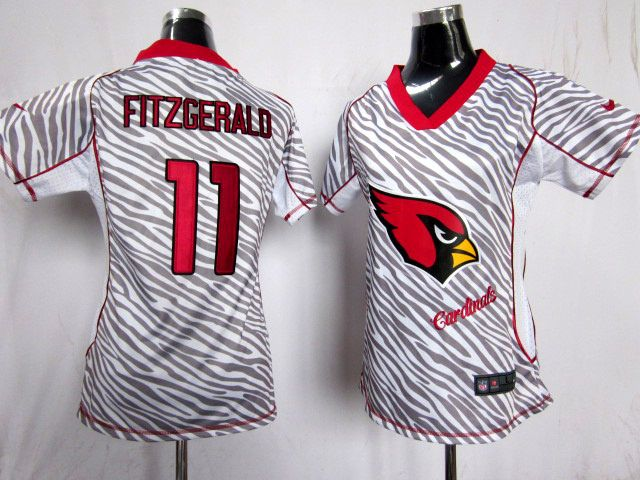 ffabf4346a6 Nike NFL Arizona Cardinals  11 Fitzgerald Women Zebre Jerseys ...
