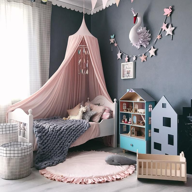 Image 0 With Images Princess Canopy Bed Nursery