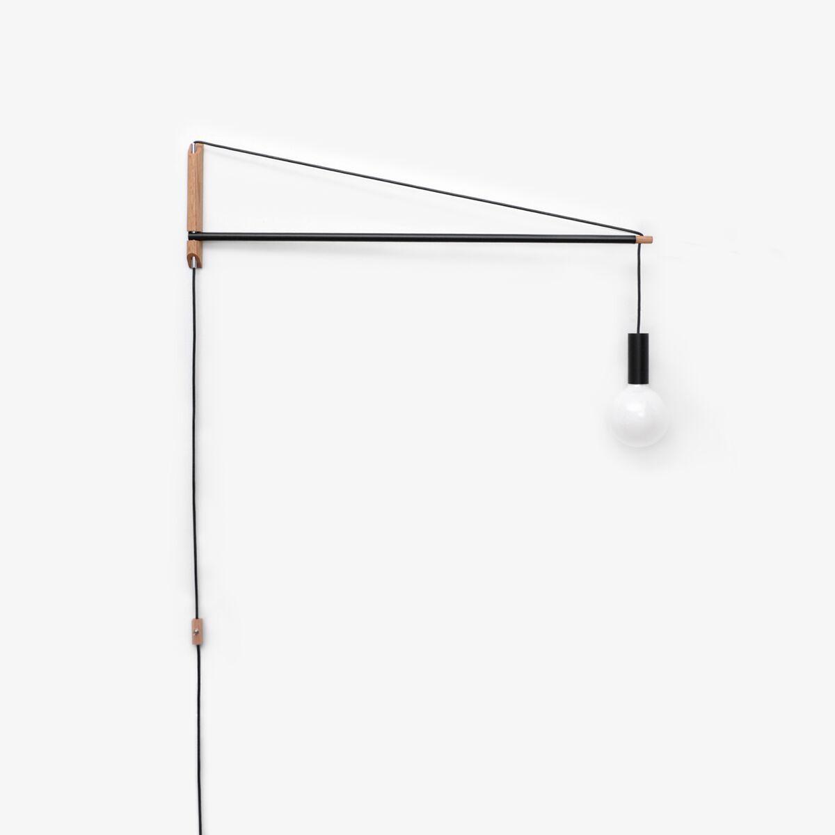 Crane Swing Arm Wall Light By Andrew Neyer Cl 2 Blk In 2020 Crane Light Swing Arm Wall Light Wall Lights